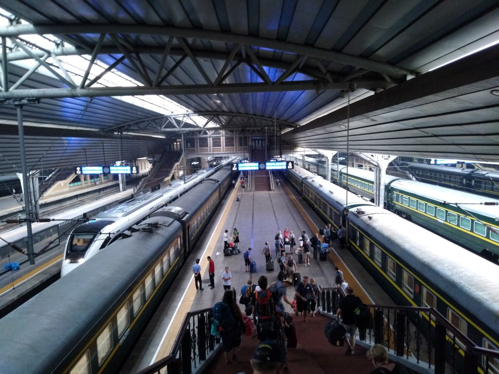 At the Beijing Railway Station