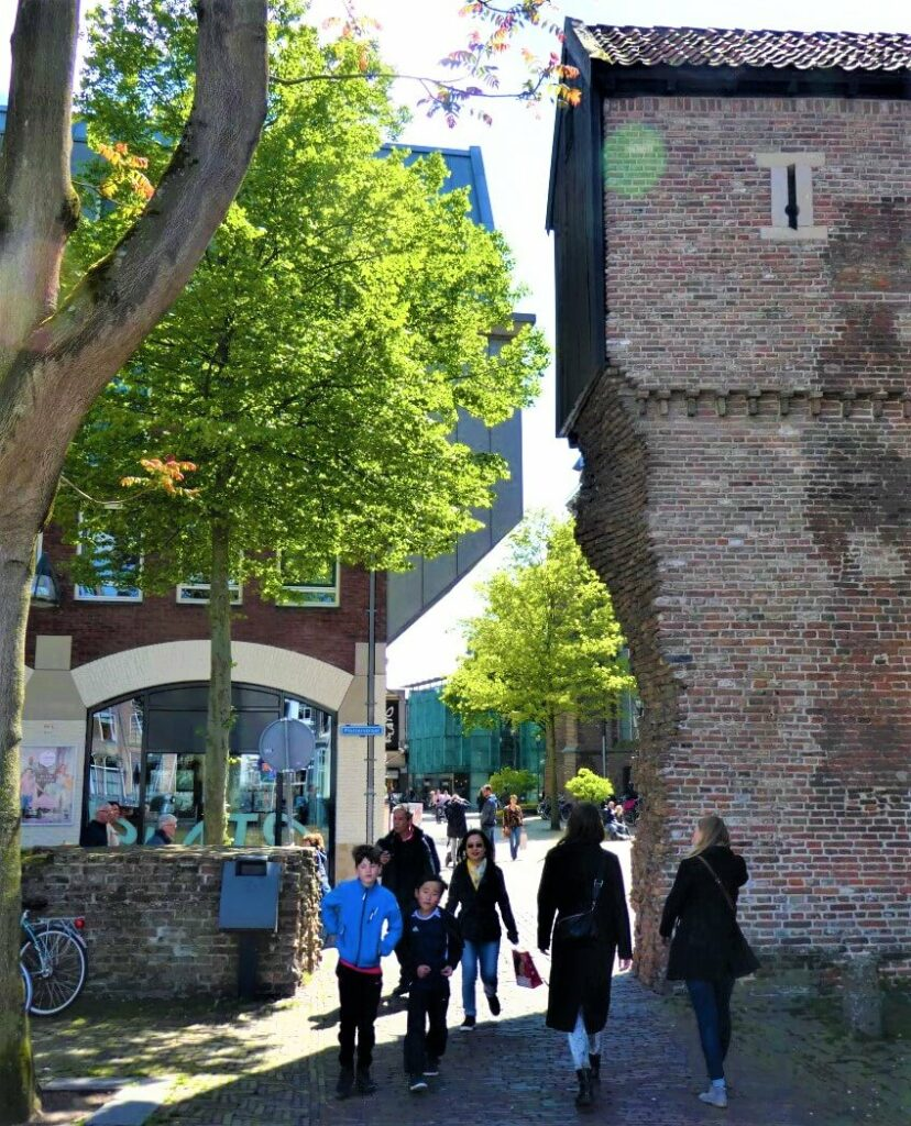 The old city wall of Hanseatic City of Zwolle