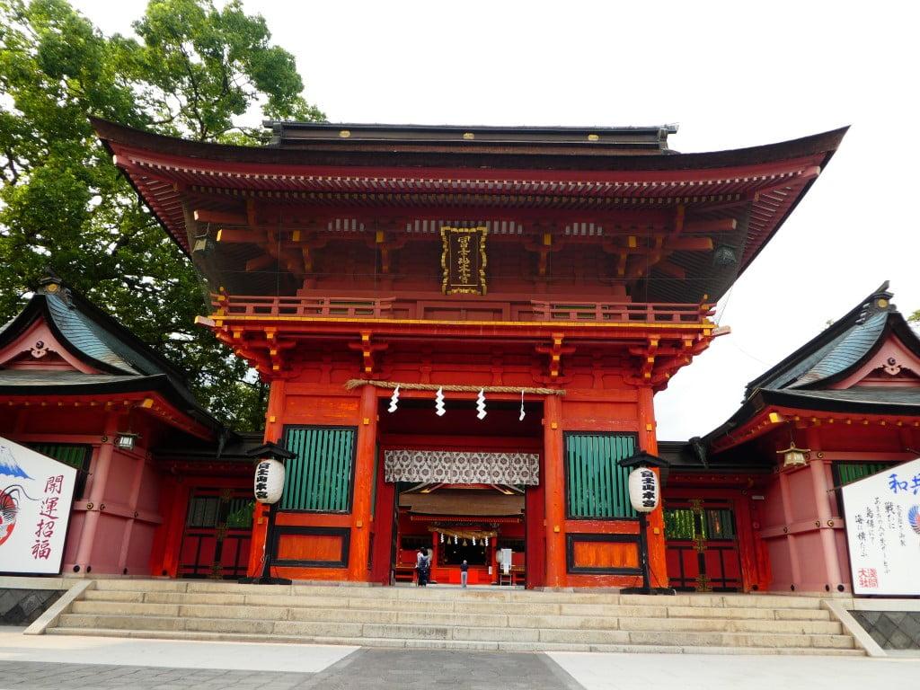 The gate of the Fujisan Sengen Shrine in Japan