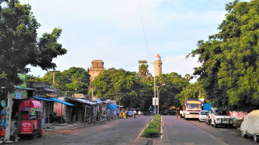 Mamallapuram Hill in Tamil Nadu, India