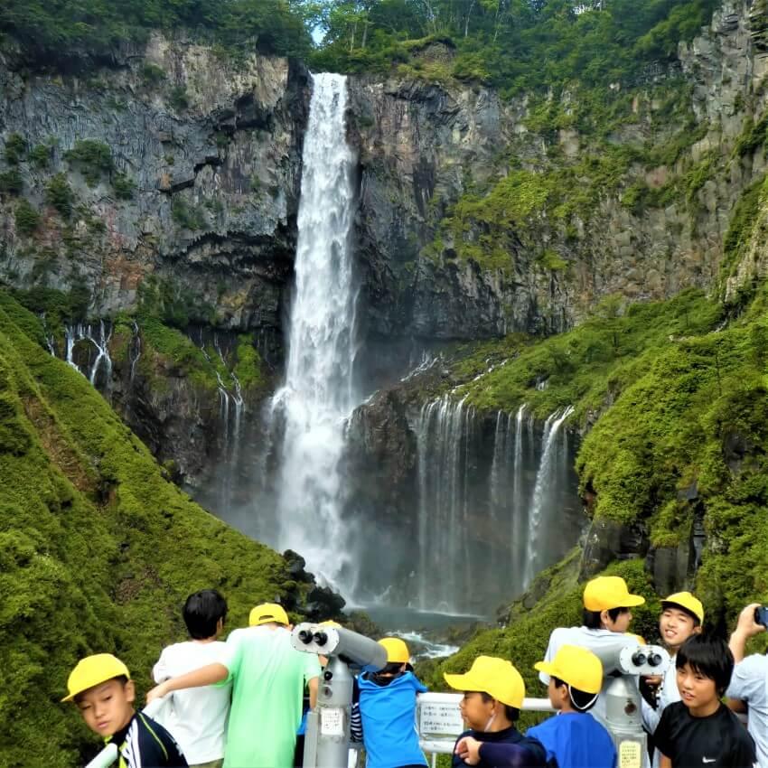 Platform Kegon Falls, Japan
