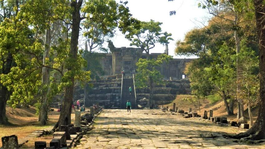 The road to Preah Vihear Temple, Cambodia