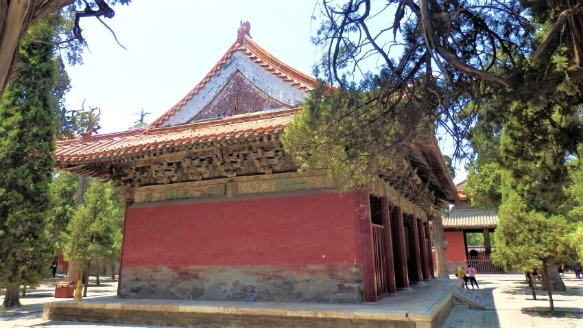 Outside the temple of Confucius, China