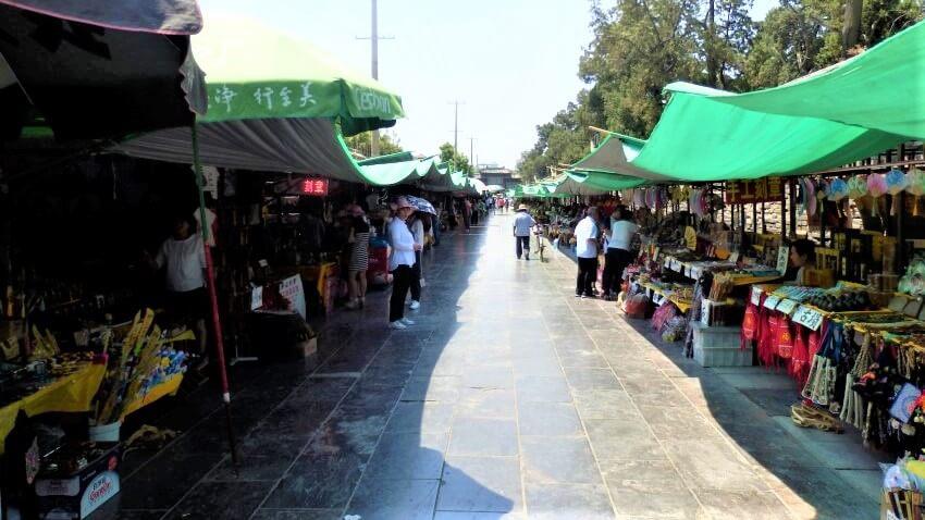 The market in Qufu, China