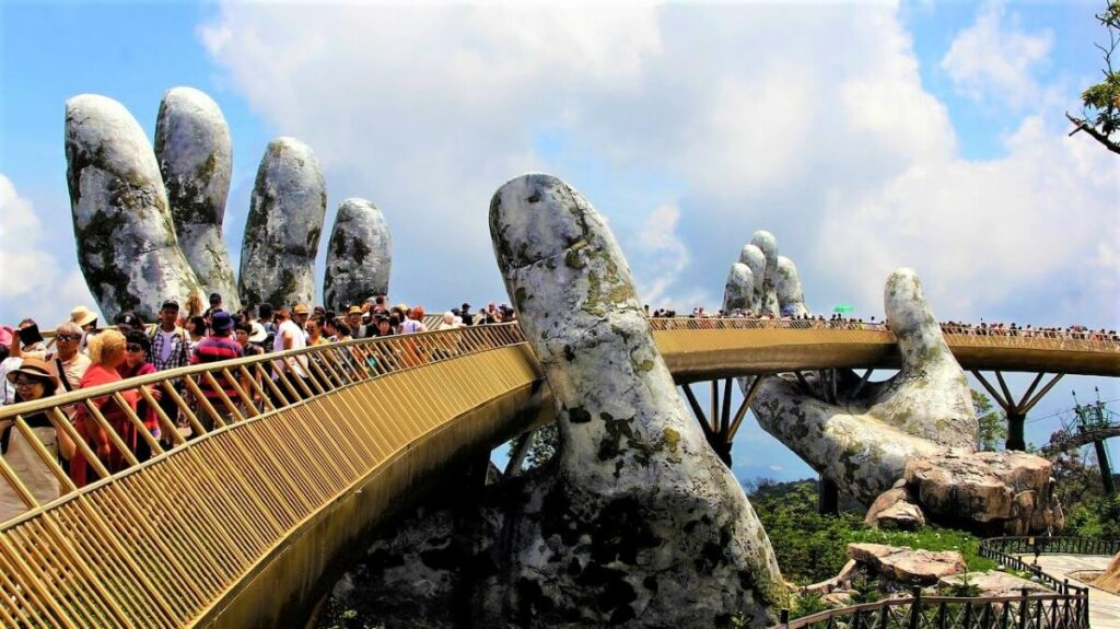 Hand brug in Da Nang, Vietnam