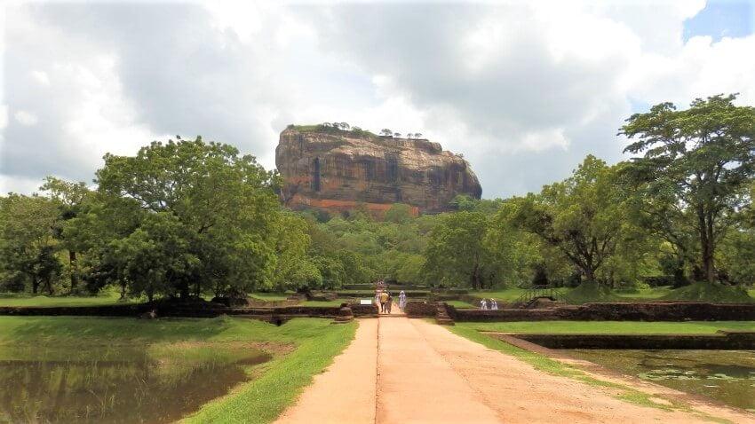Palace Garden in Sigiriya, Sri Lank