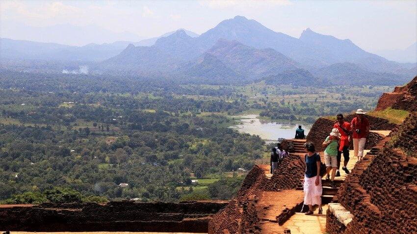 The beautiful view of Sri Lanka from Sigiriya Rock