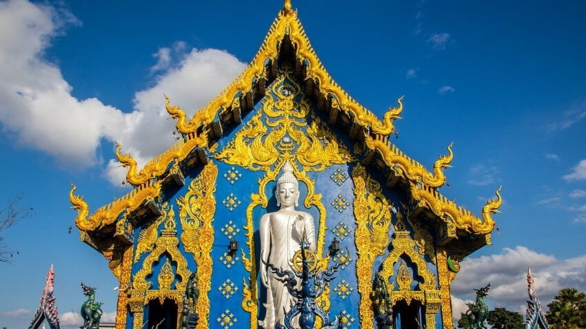 Blue Temple in Thailand