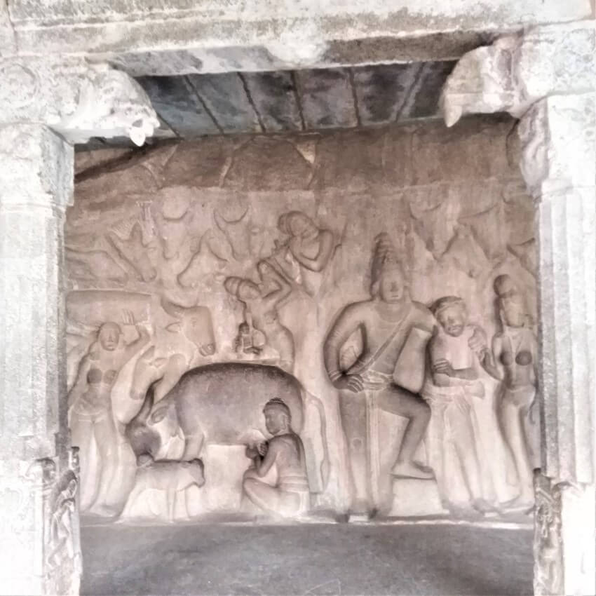 Krishna Mandapa, Mamallapuram