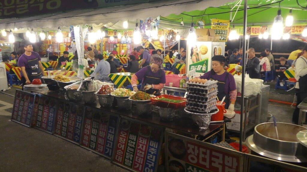 Food stalls in South Korea