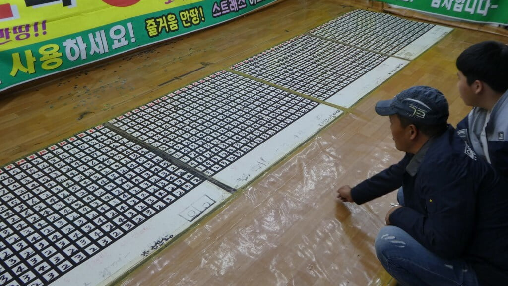 Playing games in Andong, South Korea