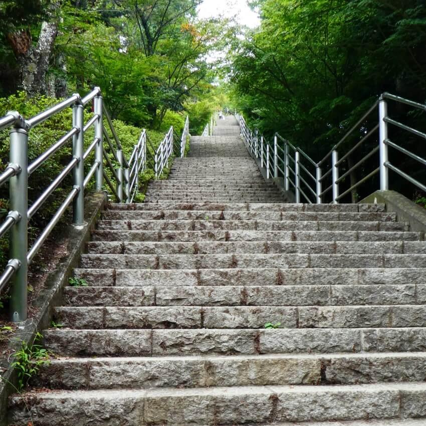 400 stairs to the Chureito pagoda