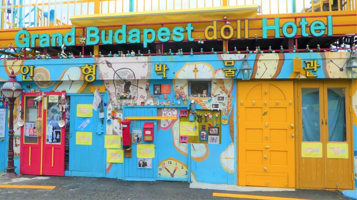 Grand Budapest Doll Hotel in Gamcheon Village