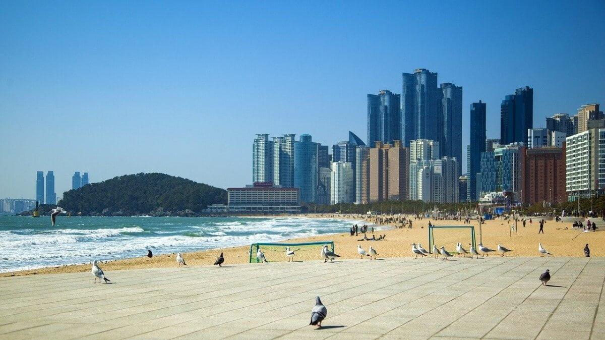 Haeundae Beach in South Korea