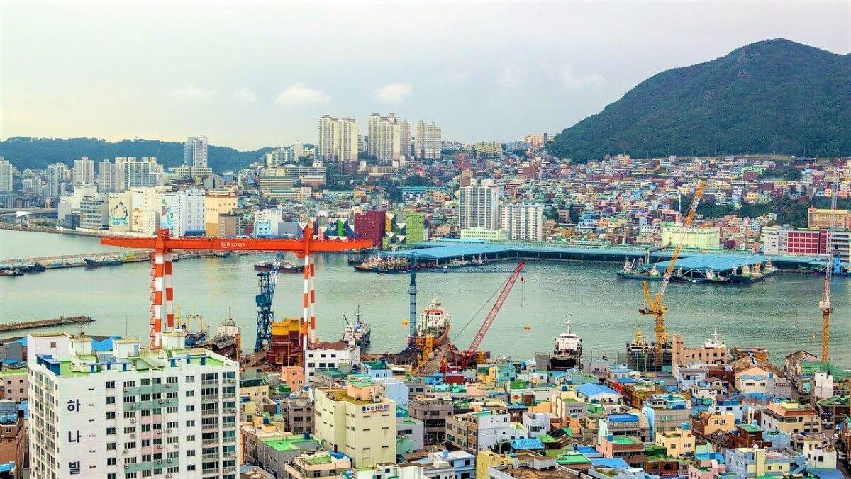 The habour of Busan, South Korea