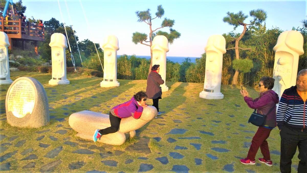 Korean people enjoy the Penis Park