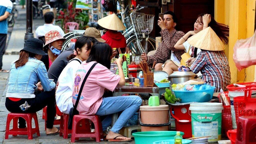 Bia Hoi Street in Vietnam