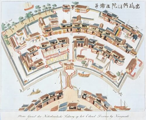 Map of Dejima, Nagasaki