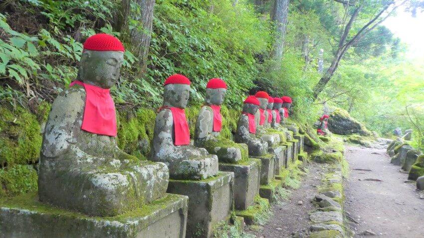 Jizo statues in the Kanmangafuchi Abyss, Nikko National Park