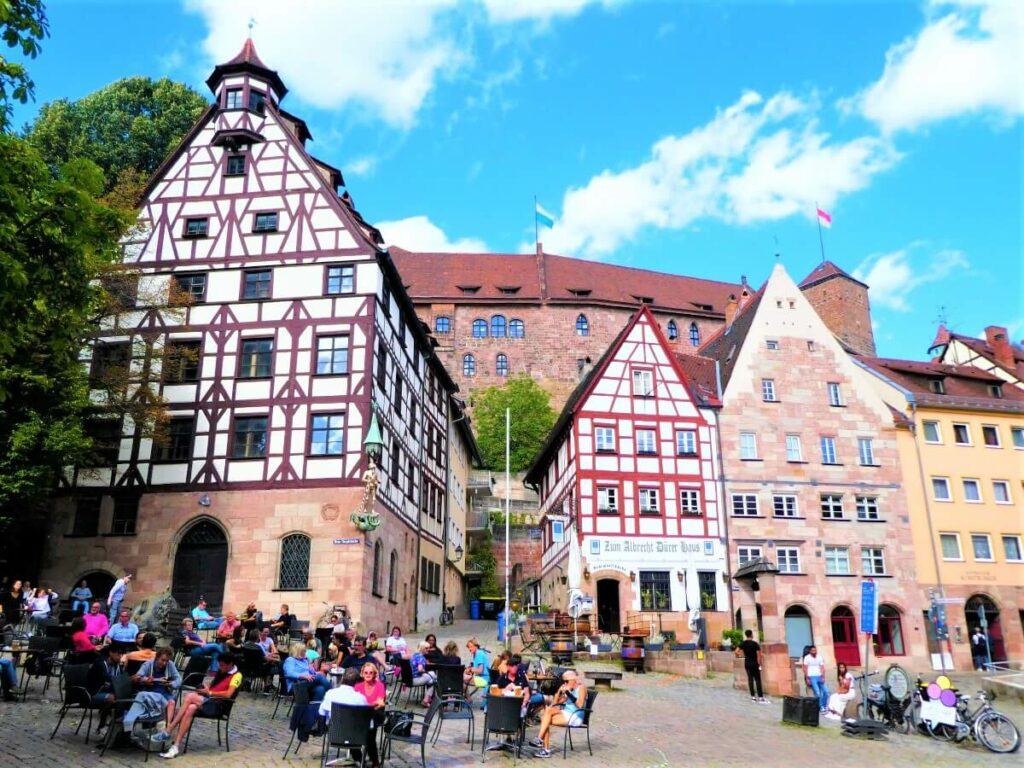 The old city center in Nuremberg, Germany