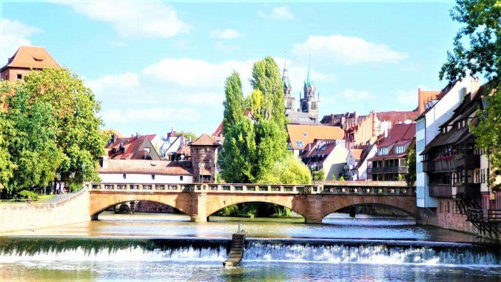 The Pegnitz river in Nuremberg, Germany