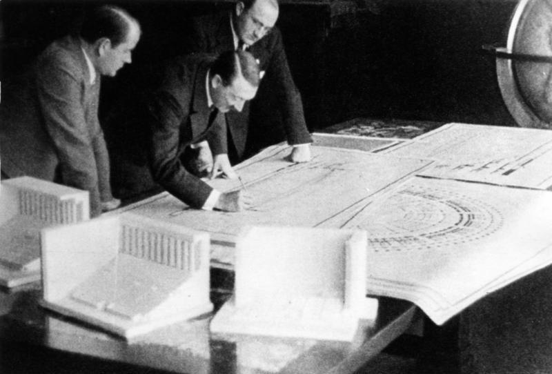 Adolf Hitler and Albert Speer and the Nazi Party Rally Grounds