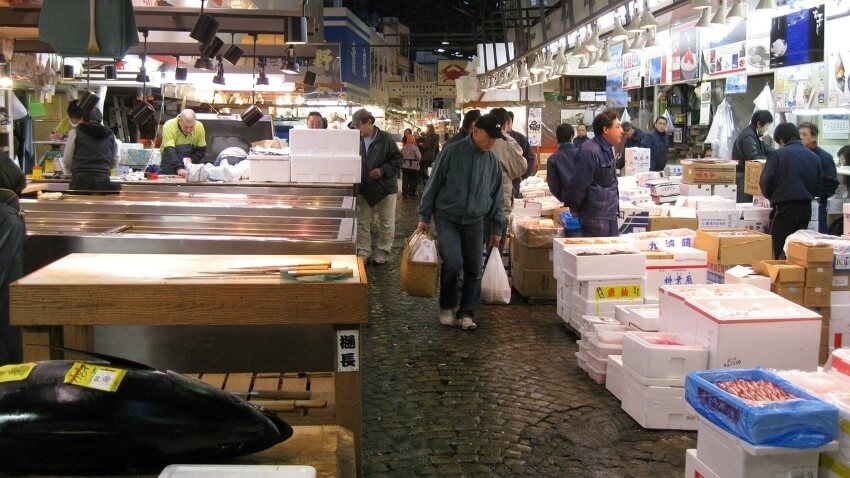 Tsukiji Fish Market, Japan