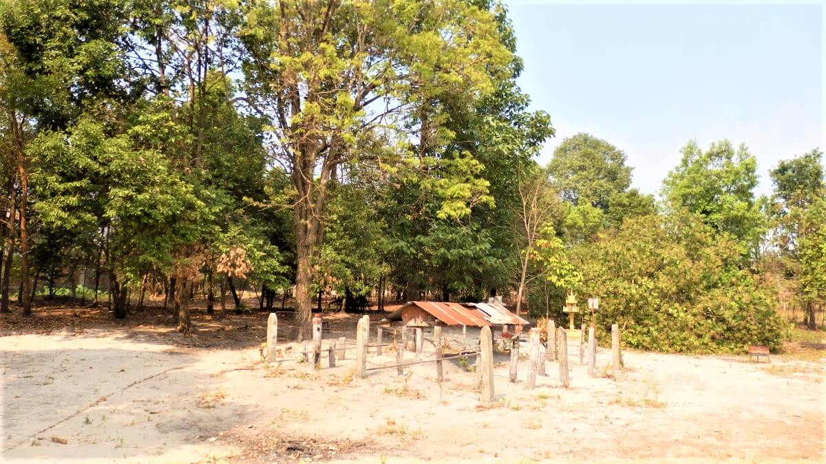 The grave of Pol Pot