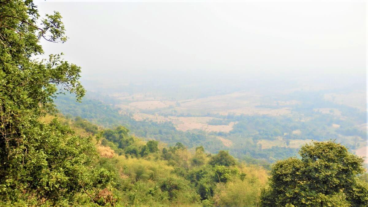 Dongrek Mountains in Cambodia