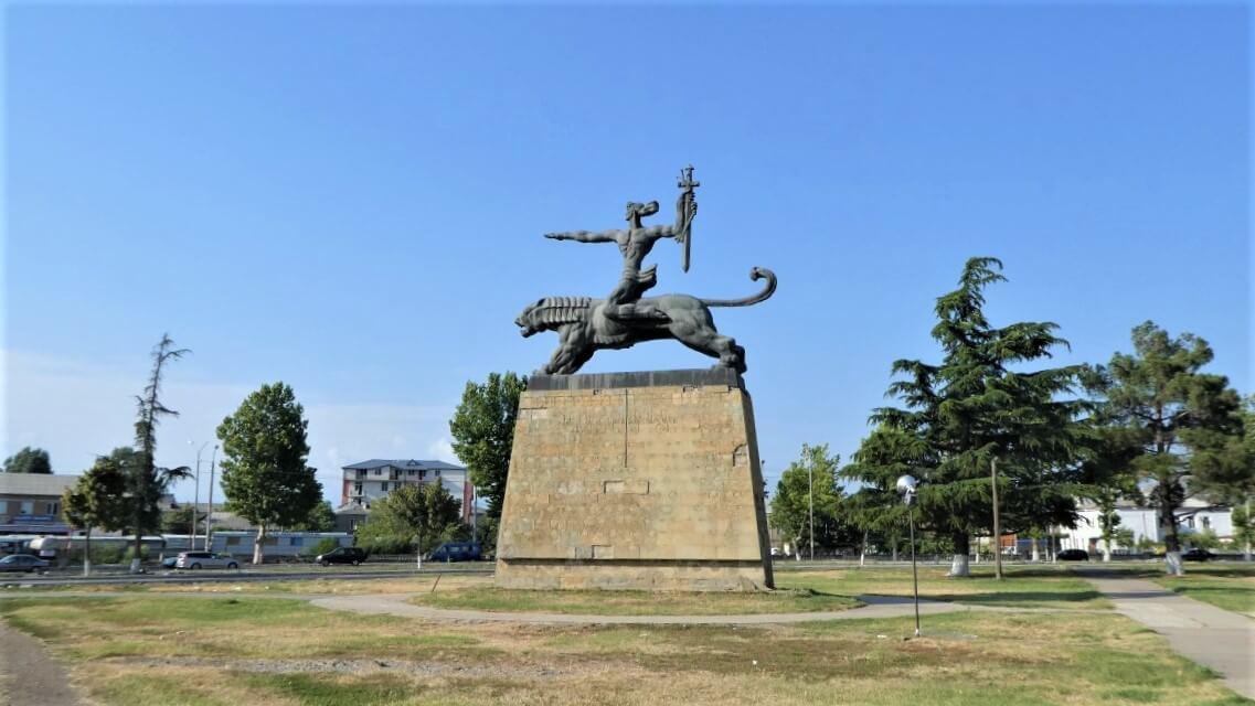 A monument in Gori, Georgia