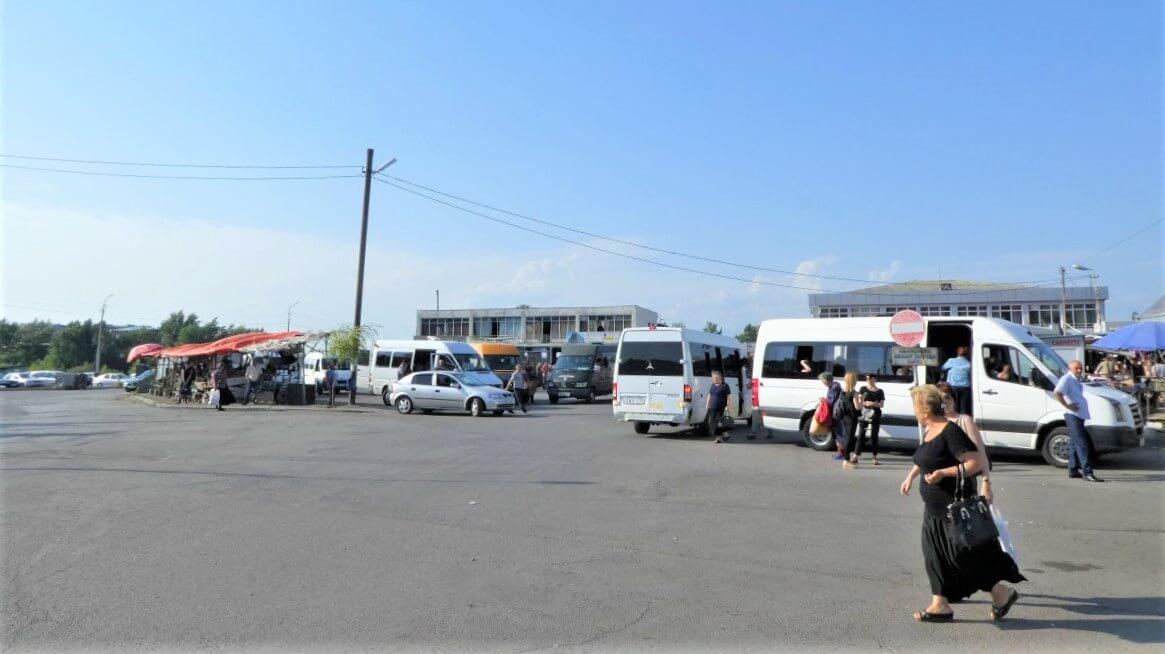 The bus station of Gori in Georgia