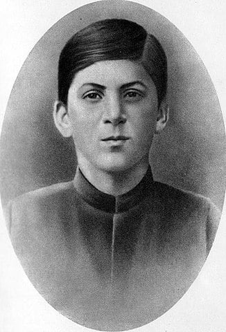 Joseph Stalin at the age of fifteen