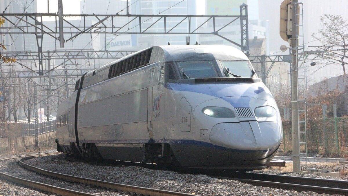 KTX high speed train in South Korea