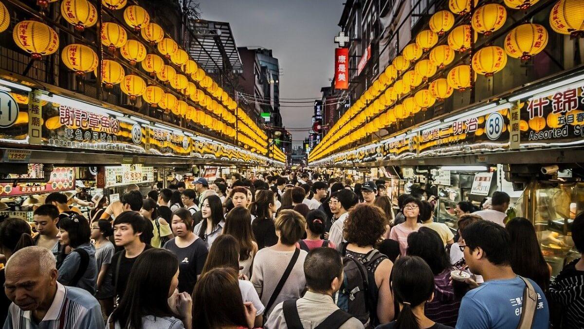 The nightmarket in Taiwan
