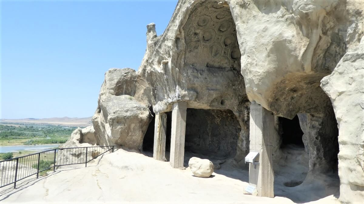 Cave, pillars and temples in Georgia