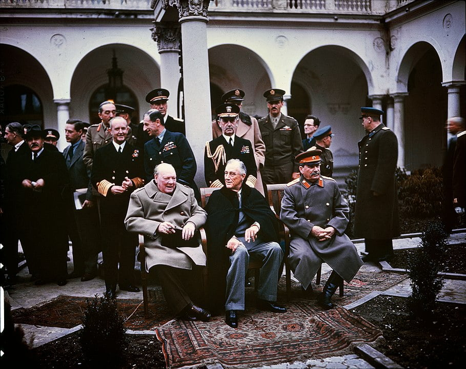 Yalta conference between Stalin, Churchill and Roosevelt
