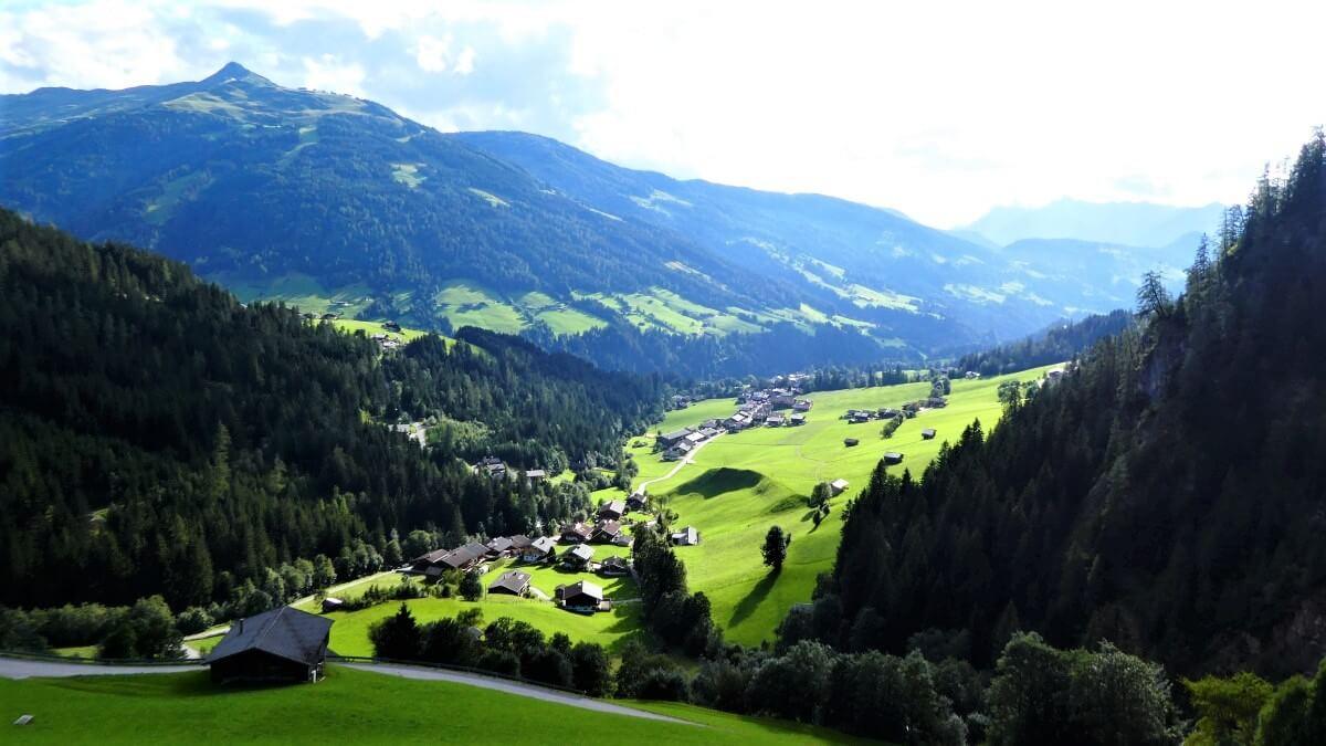 The beautiful Alpbachtal in Tyrol, Austria
