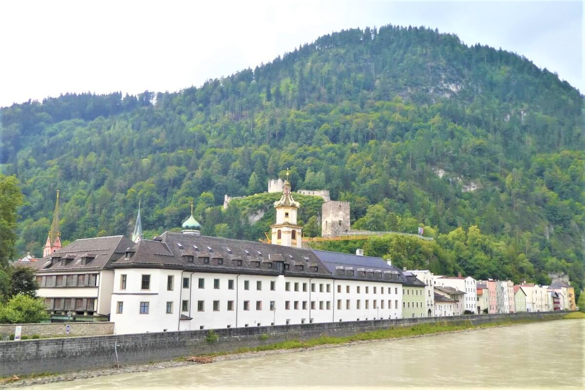The beautiful view of Rattenberg and the Castle