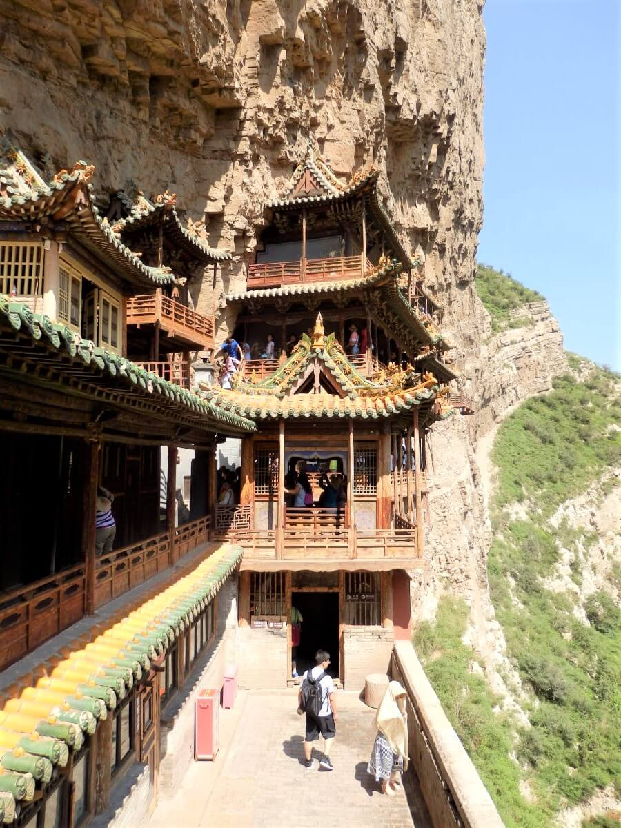 Extraordinary architecture of the Hanging Monastery, China