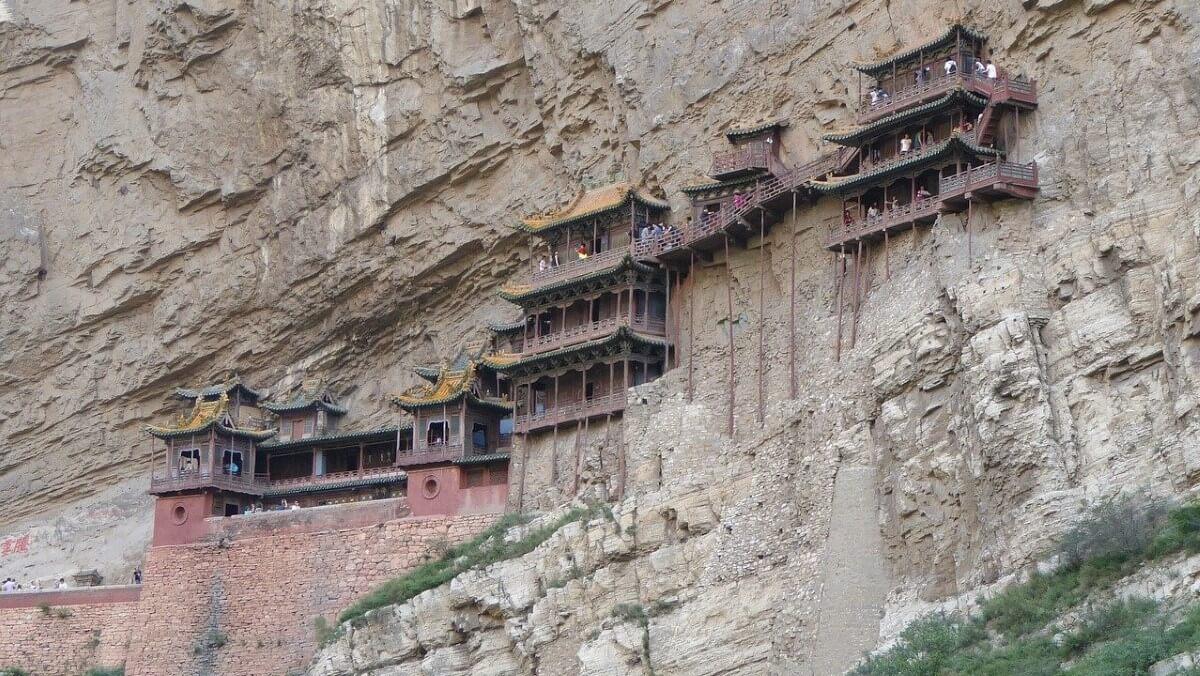 The amazing Hanging Monastery of Hunyuan, China