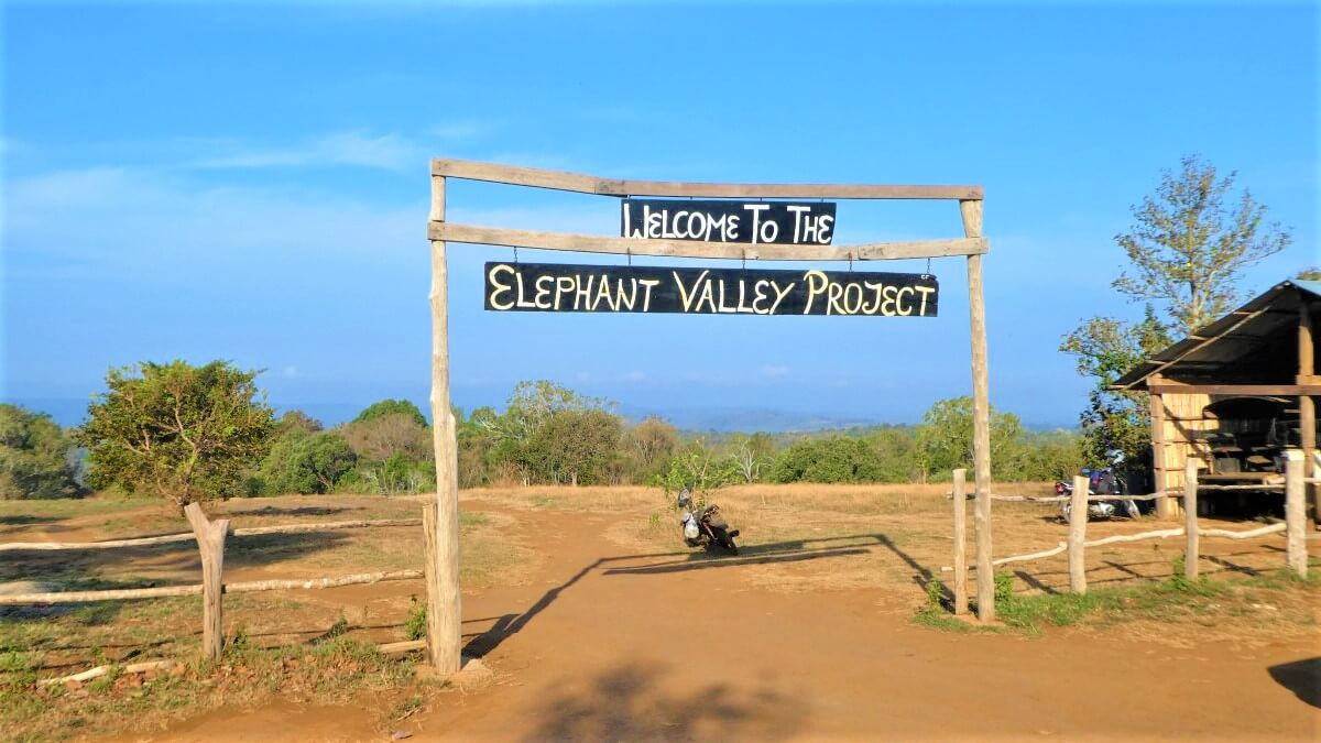 Entrance of the Elephant Valley Project in Sen Monorom, Cambodia