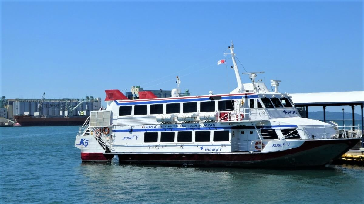 The Ferry from Hakata to Busan in South Korea