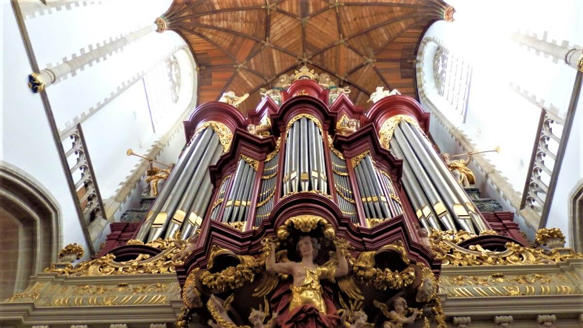 The Organ of the Sint Bavo Church in Haarlem, The Netherlands