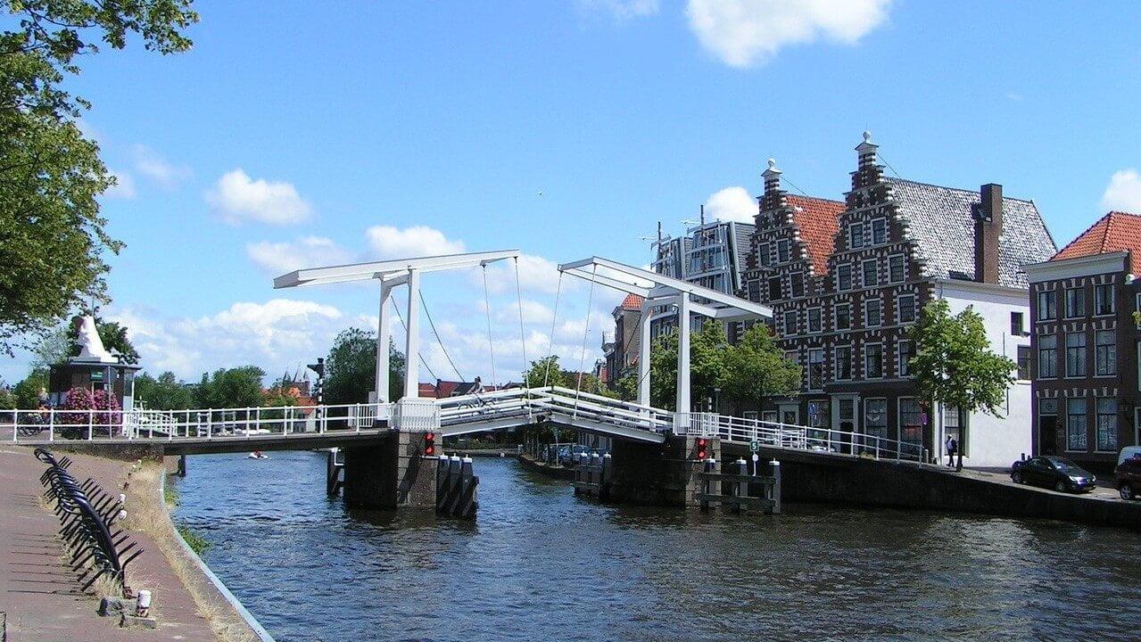 Spaarne Bridge in Haarlem, The Netherlands