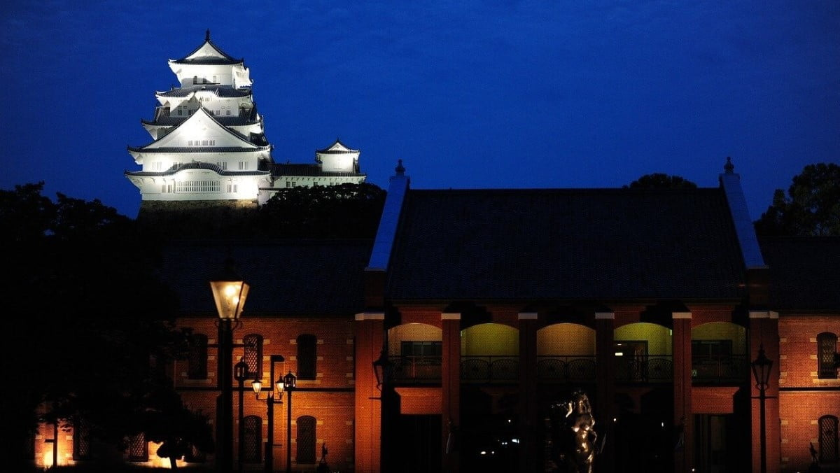 Himeji Castle by night, Japan