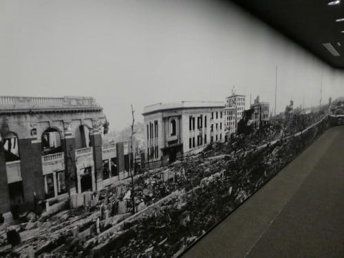 Hiroshima a few days after the atomic bombing