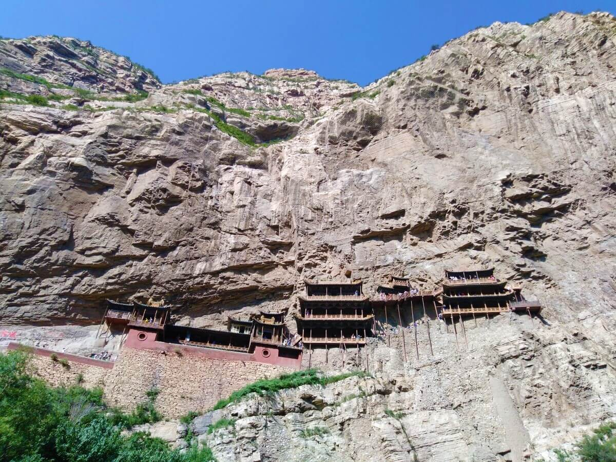 Hunyuan Hanging Monastery near Datong in China