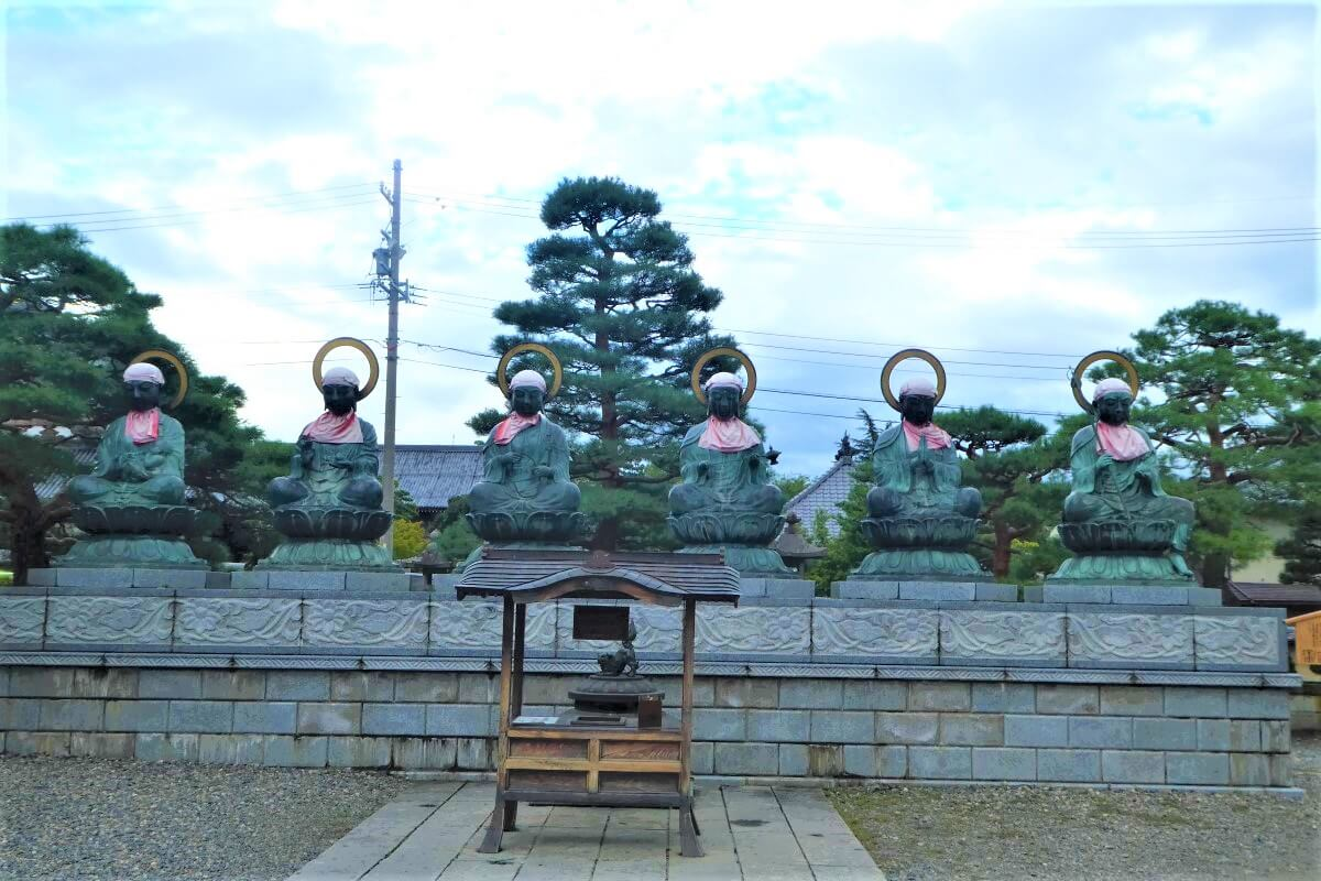 A few statues of buddha in Nagano, Japan