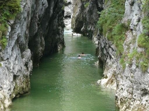 Swimming in the Kaiserklamm, Tyrol
