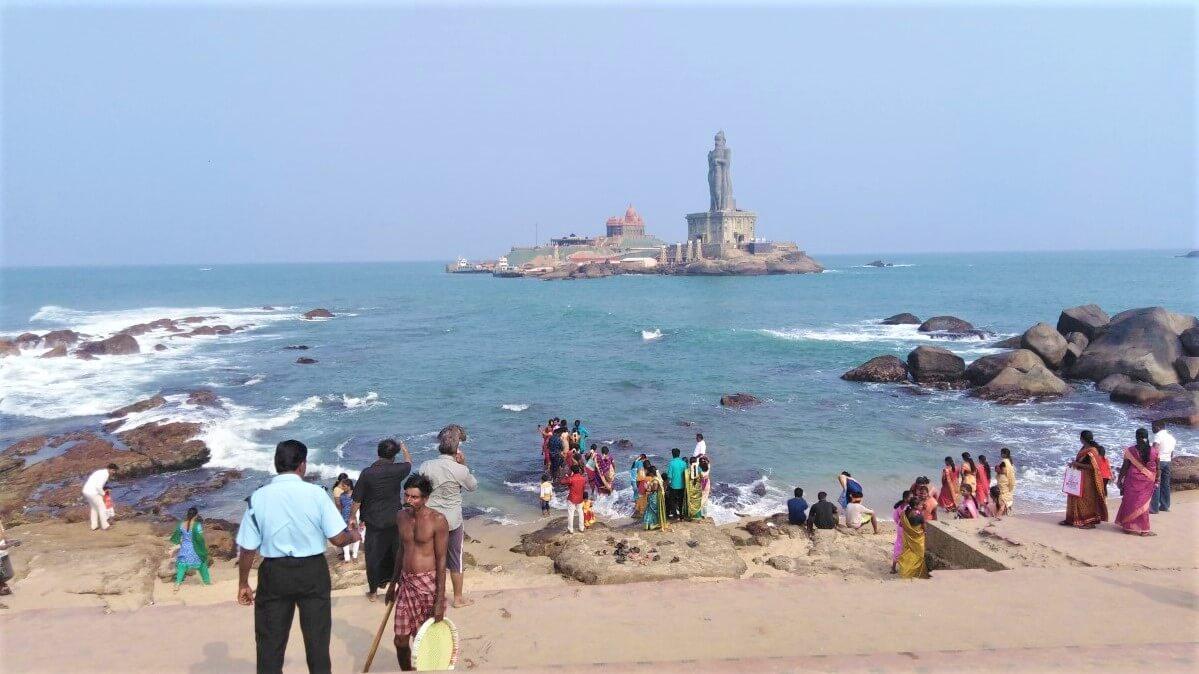 Thiruvalluvar Statue and Vivekananda Rock Memorial, India